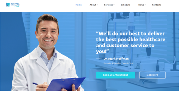 Bootstrap Health HTML5 Template