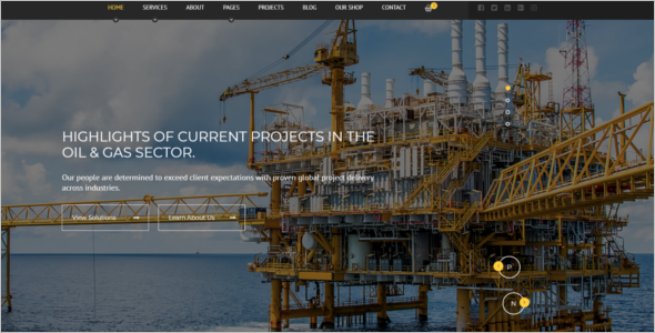 Bootstrap Industrial HTML5 Template