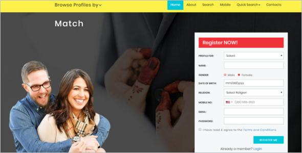 Bootstrap Matrimonial Website Template