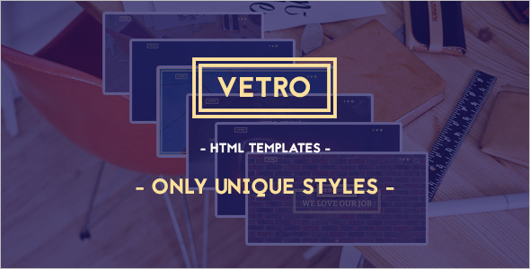 Bootstrap Vintage HTML5 Template