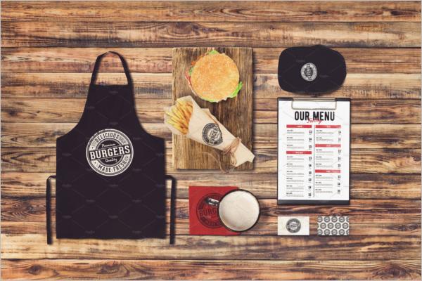 Burger Apron Mockup Template