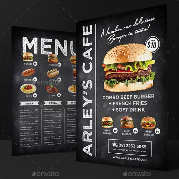 BurgerMenu Card Template