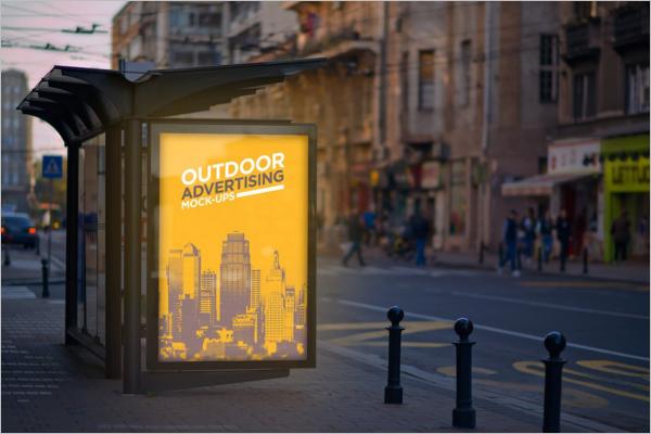 Bus ShelterOutdoor Mockup Design