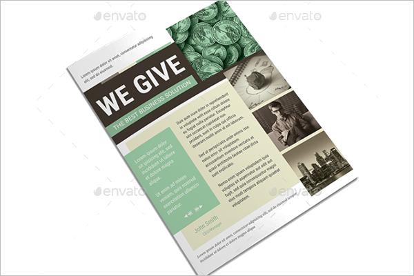 Business Newsletter Brochure Template
