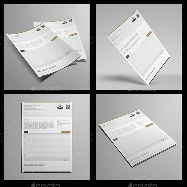 Business Order Letter Template