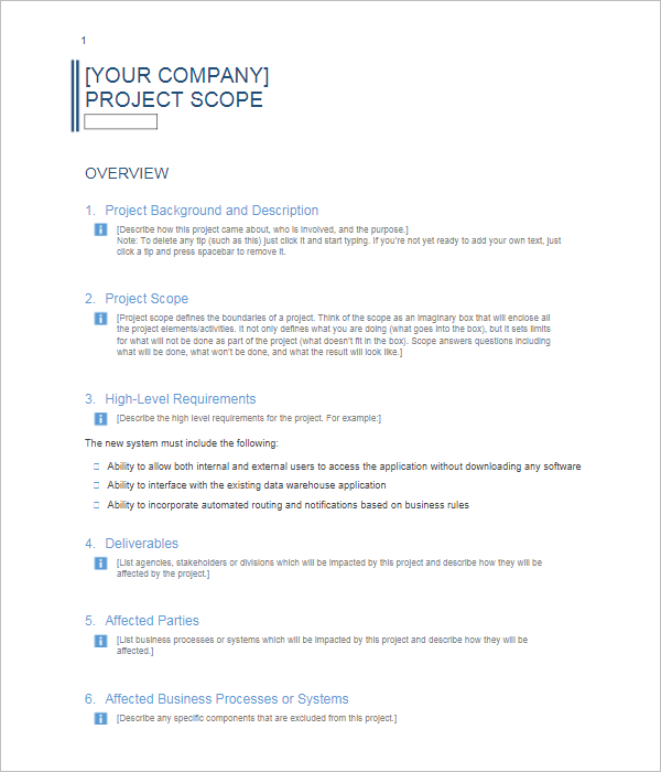 BusinessProject Report Template