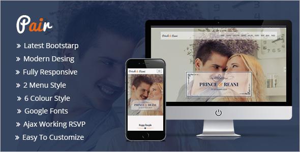 CSS3 Responsive HTML5 Wedding Template