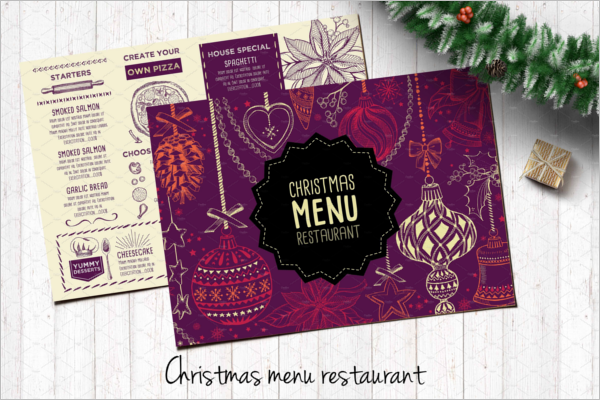 Celebrations Menu Template