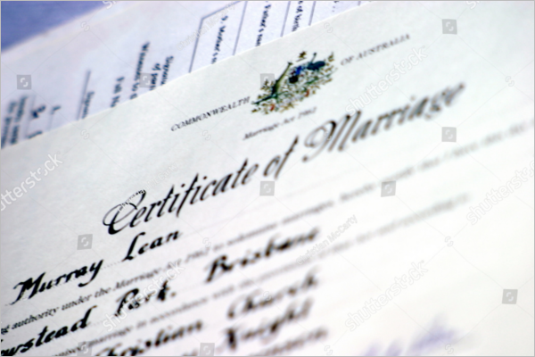Certificate For Wedding