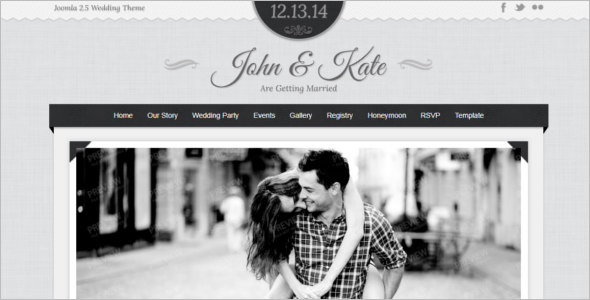 Cheap Wedding Joomla Template