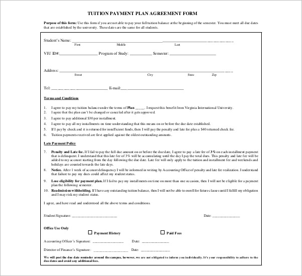 Child SupportPayment Agreement Template