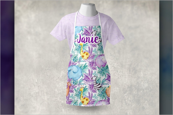 Child's Apron Mockup Design