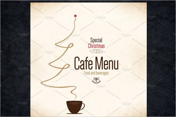 Christmas Cafe Menu Template
