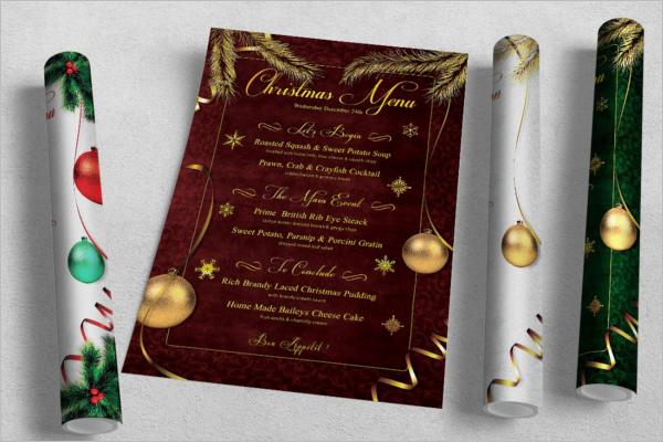 Christmas Menu Design Template