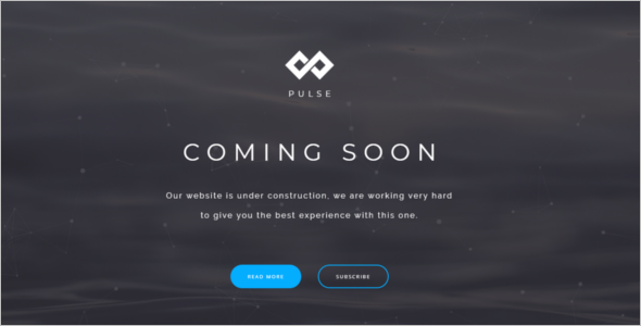 Clean Coming Soon Website Template