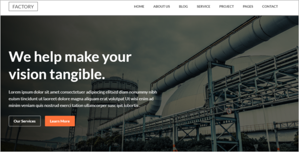 Clean Industry HTML5 Template