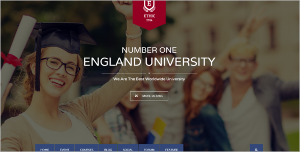 Clean University Joomla Education Template