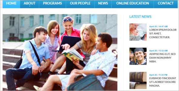 Clean University Website Template