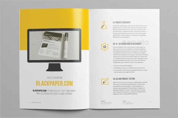 Clean Website Proposal Template