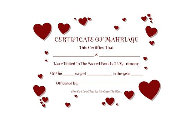 ColourfulMarriage Certificate Template