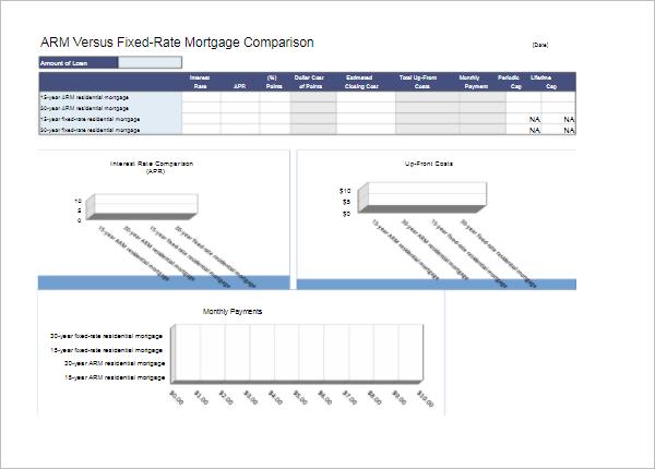 Comparison Chart Template PDF