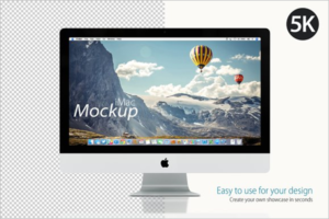 Computer Mockup Design Template