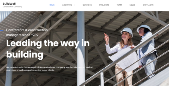 Construction Company HTM5 Template