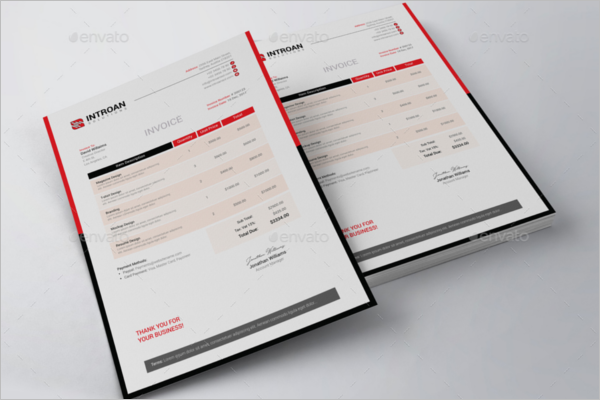 Contractor Freelance Invoice Template
