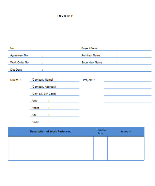 Contractor Invoice Template Download