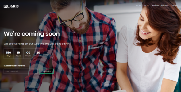 Corporate Coming Soon HTML Template