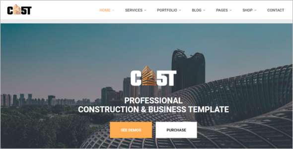 Corporate Construction HTML5 Templates