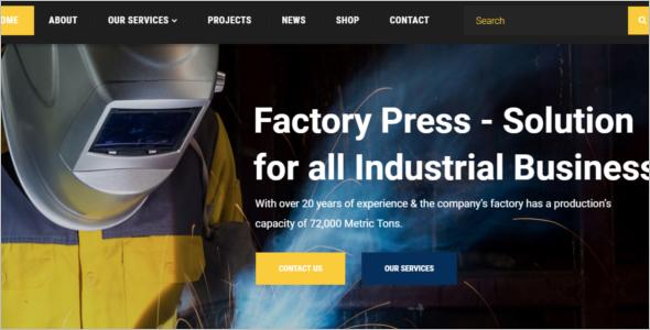 Corporate Industry Website Template