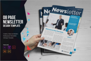 Corporate Newsletter Brochure Template