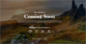 Counter HTML Coming Soon Template