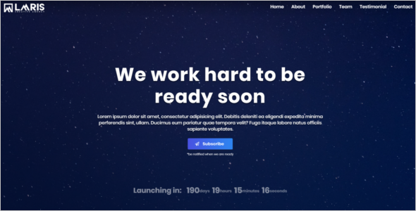 Creative Agency Coming Soon HTML Theme