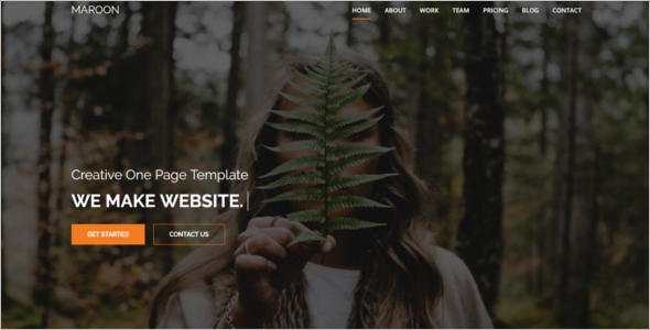 Creative Animated HTML5 Template