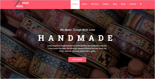 Creative Jewelry Website Template