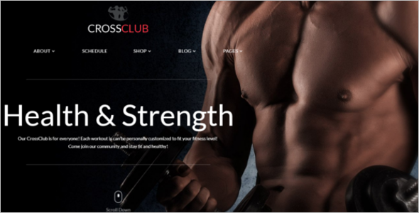 Crossfit Responsive Gym HTML Template