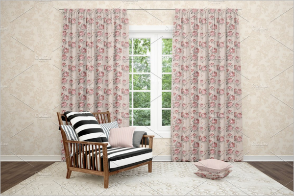 Curtain Mockup Design
