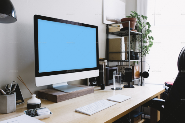 Desktop Mockup Template
