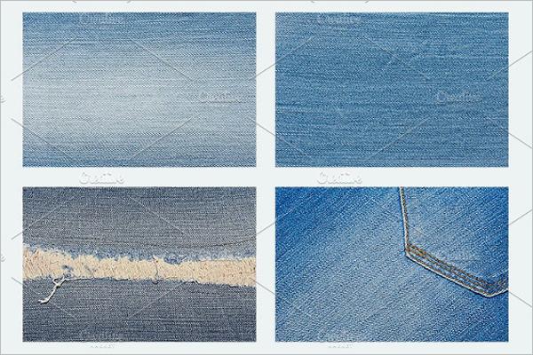 Different Jeans Fabric Texture