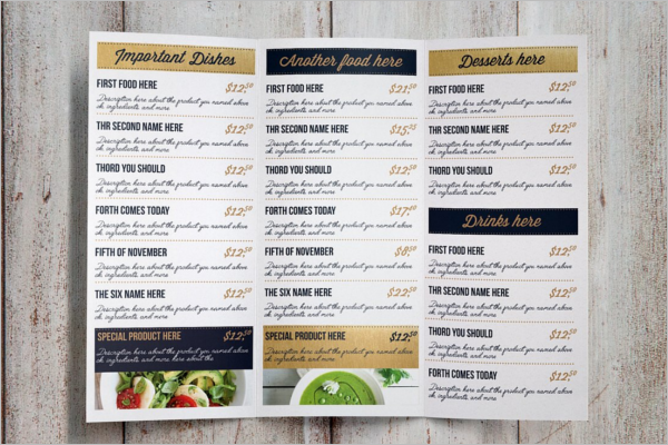 Dinner Menu Card Template