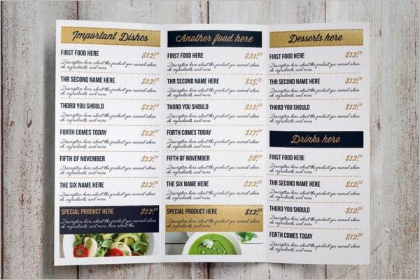 DinnerMenu Card Template
