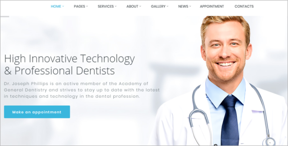 Doctor HTML Website Template