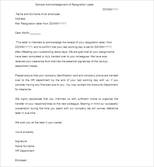 DonationAcknowledgement Letter Template