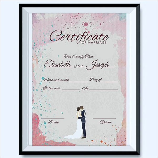 Downloadable Marriage Certificate Template