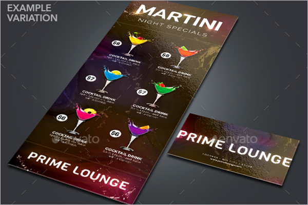 Drink Specials Menu Template