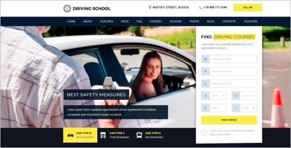 Driving School HTML5 Template