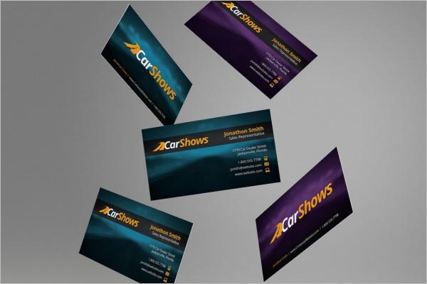 Editable Automotive Business Card Design