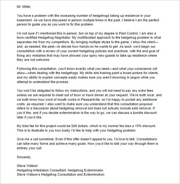 Editable Bid Proposal Letter Design